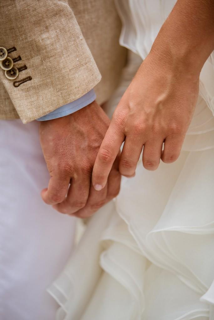 Bruidspaar handen